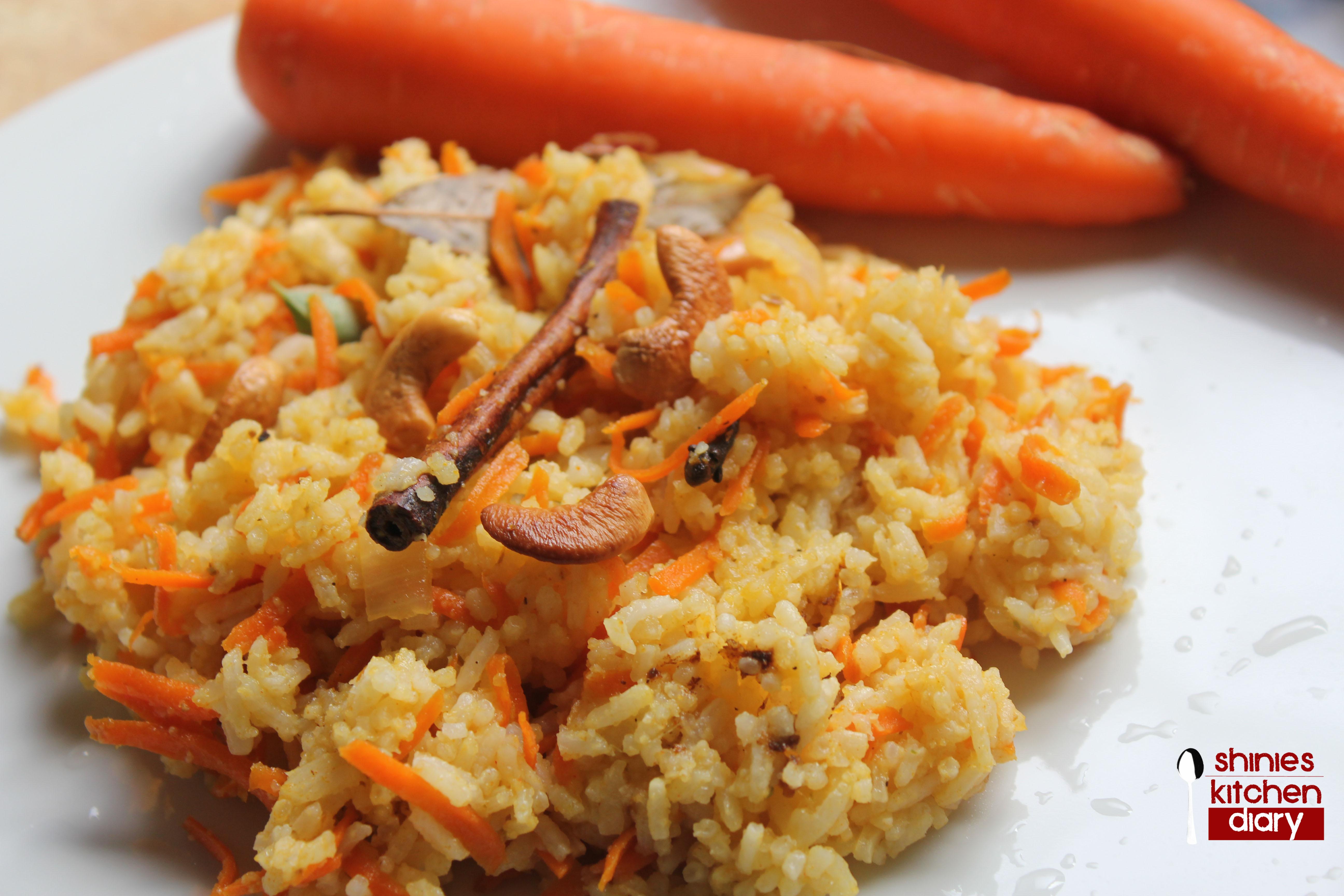 Carrot Rice | Shinies Kitchen Diary